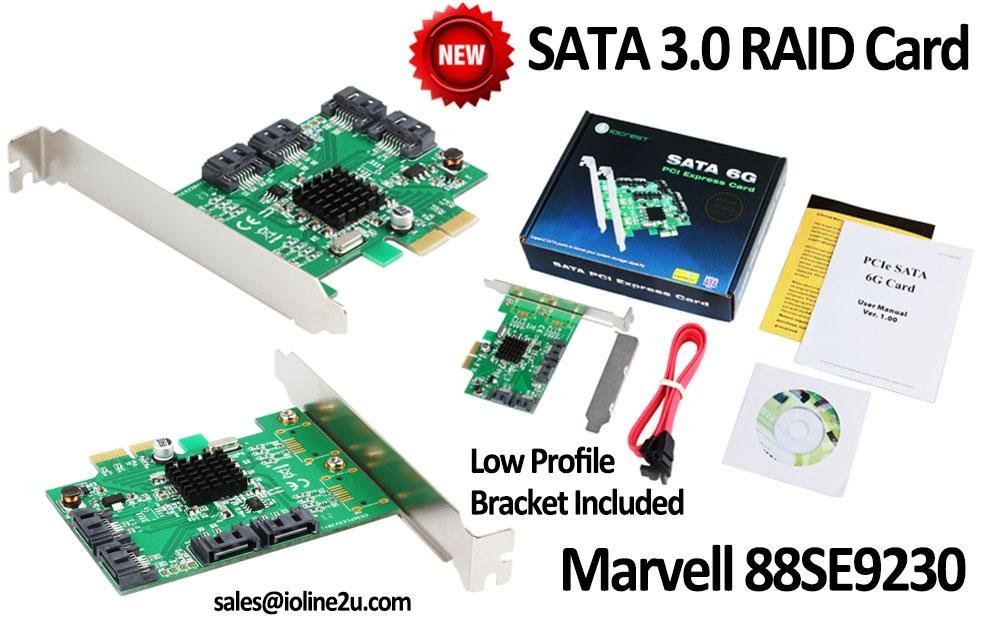 4-port PCIe SATA 6G Raid Controller (end 12/9/2021 12:00 AM)