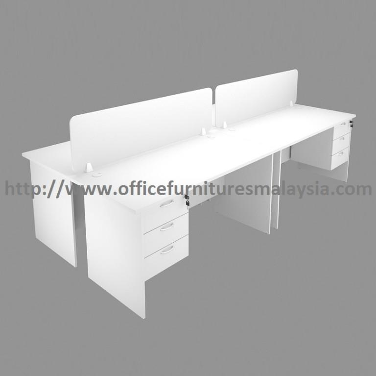 4 Seats Office Workstation Divider With Drawers OFHF18704 Wangsa Maju