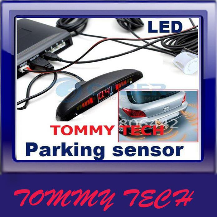 4 Sensors System 12v LED Display Indicator Parking Car Reverse Radar K