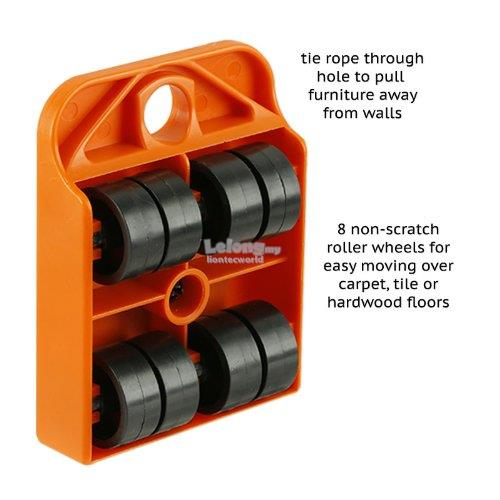 4 Unit Heavy Duty Furniture Mover Rollers