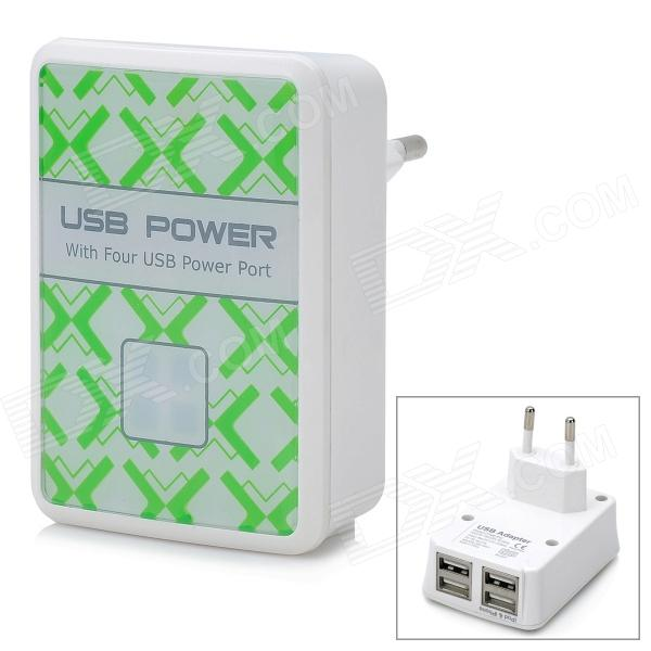 4 USB Power Port Adapter Samsung Apple Tablet Charger 4200mA