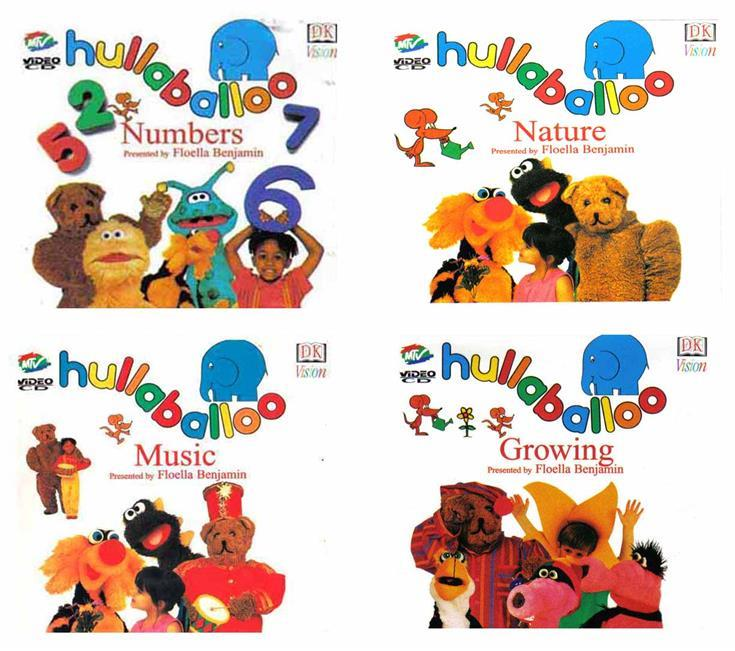 4 VCDs Hullabaloo NUMBERS, MUSIC, NATURE, GROWING