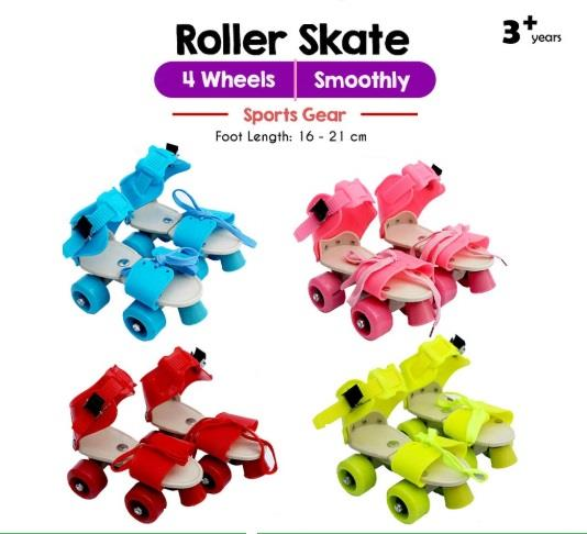 4 Wheels Adjustable Kids Quad Roller Skate Shoe Sport