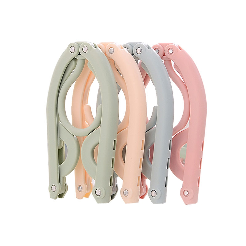 4 X Folding Hangers - 4 Pcs PORTABLE Folding Clothes Hangers Drying Ra..