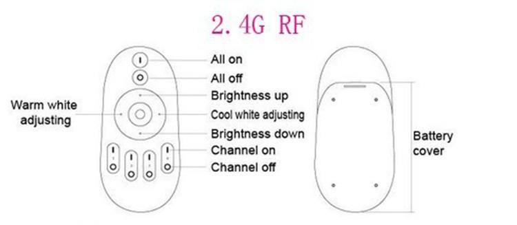 4 Zone LED Remote Control Dimmer Color and Luminance control