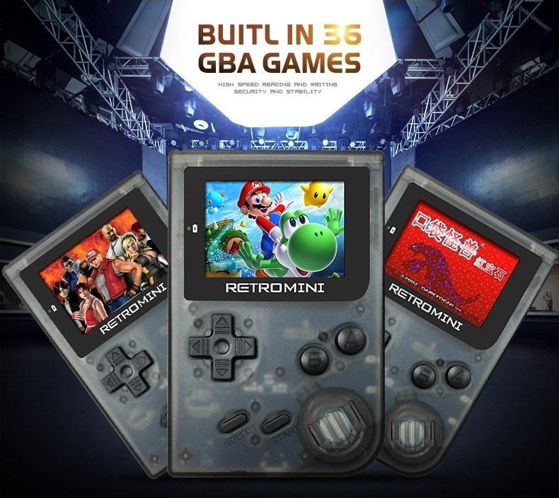 40 GAME Retro Mini Console Handheld Gameboy GBA Video Game Emulator