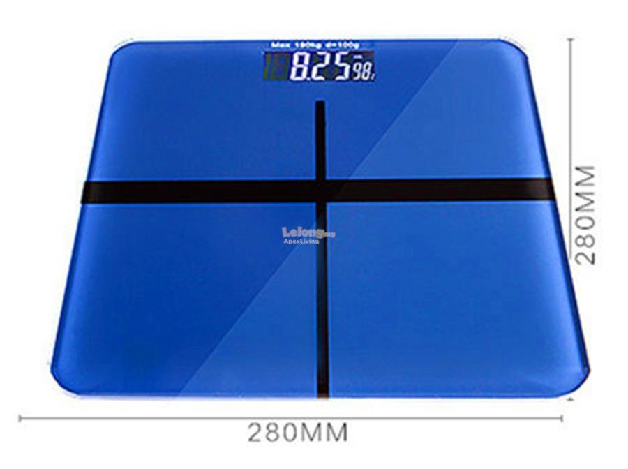 400LB/180KG LCD Tempered Glass Digital Body Weight Scale