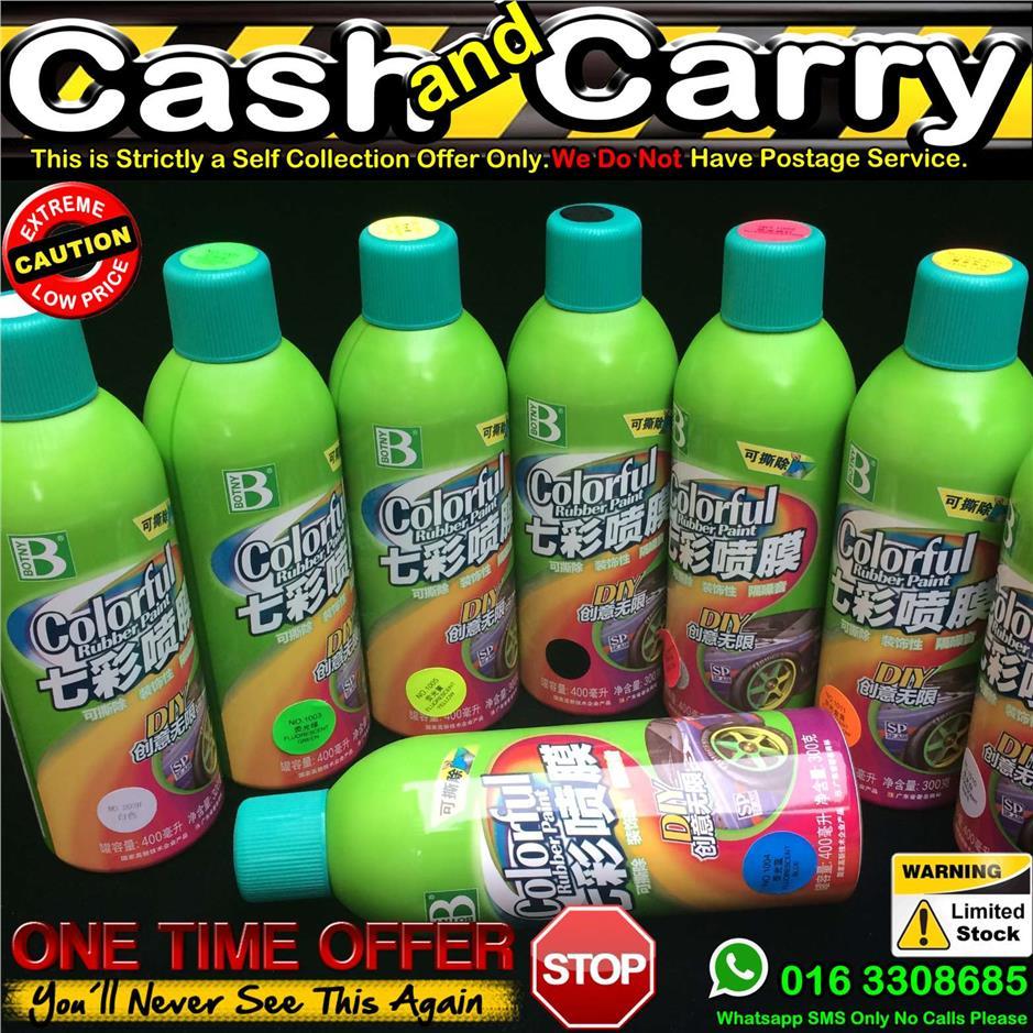 400ml Botny Rubber Spray Paint Color Plasti Dip Car Sport Rim Silicone