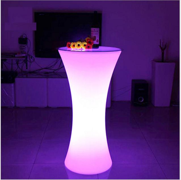 led lighting bar table
