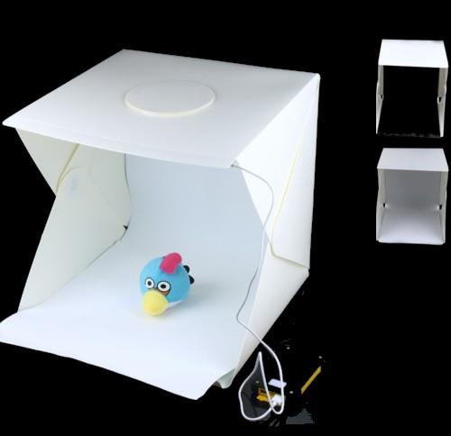 40cm 2 LED 2Color Background Portable Folding Photo Studio Light box
