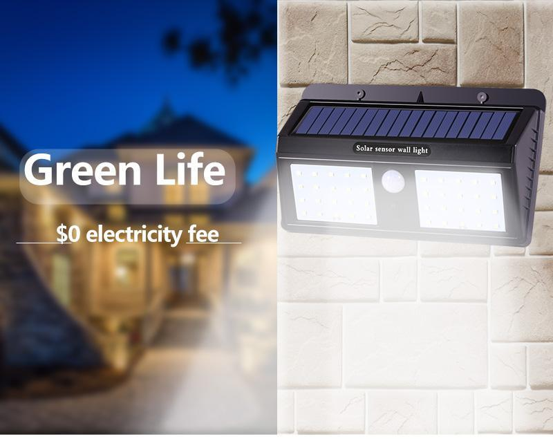 official photos c0e29 519dd 40LED Solar LED Wall Light with Motion Sensor Security Outdoor Garden