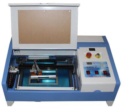 40W 3020 CO2 Laser CNC Machine Engraving Cutting Rubber Stamp LaserDRW