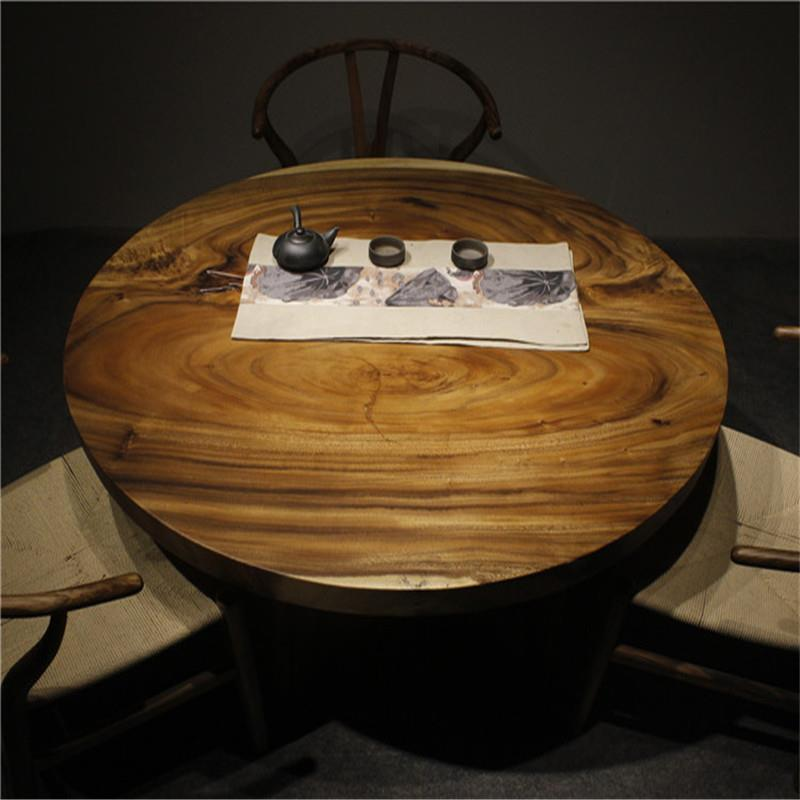 41119481 solid walnut wood round table