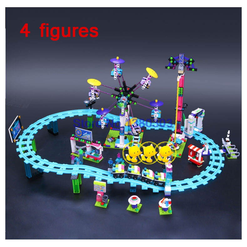 41130 Friends AMUSEMENT PARK ROLLER COASTER Building Blocks Model Bric