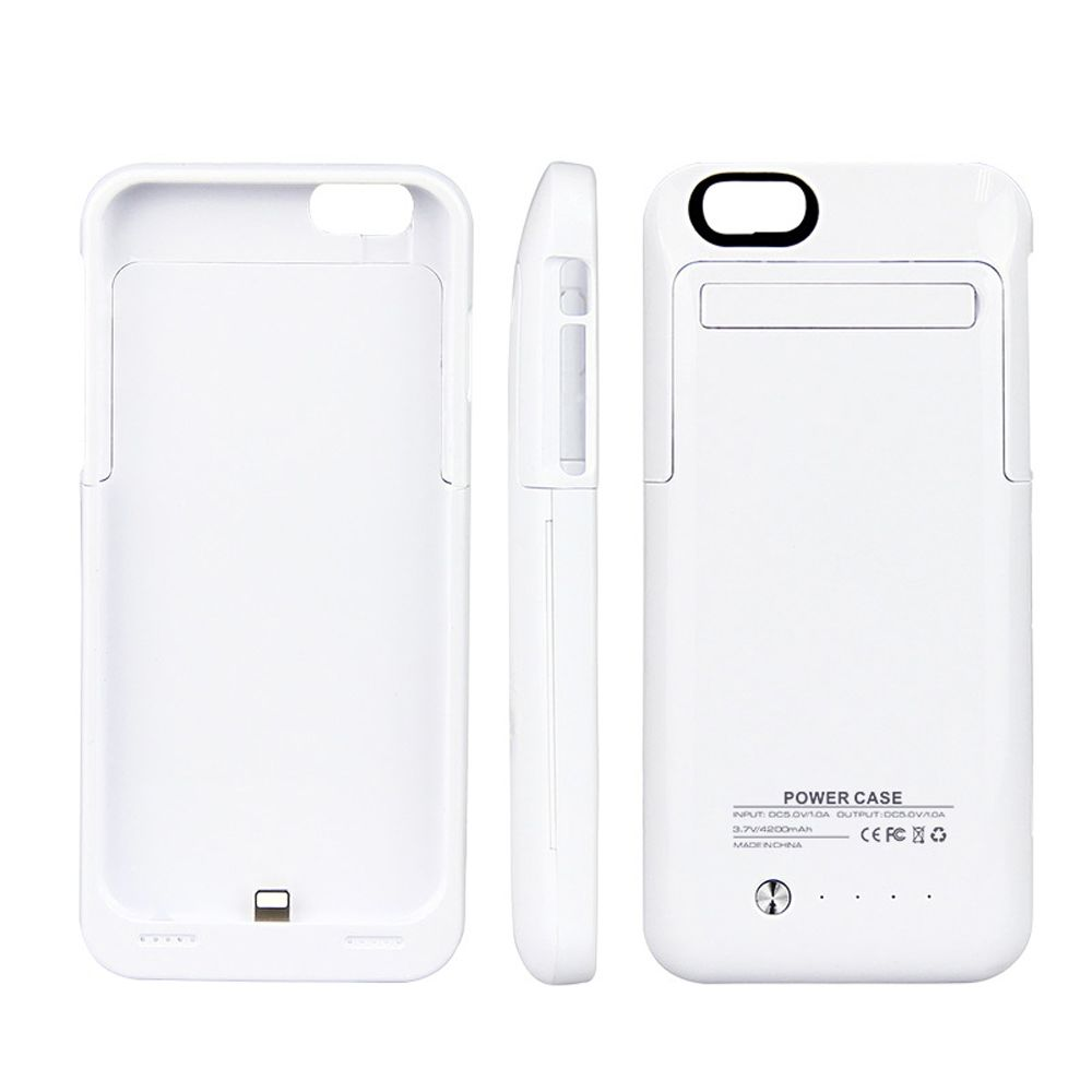 best sneakers b3c9a 0402f 4200MAH BACKUP BATTERY EXTERNAL POWER BANK CHARGER CASE FOR IPHONE 6 PLUS /  6S