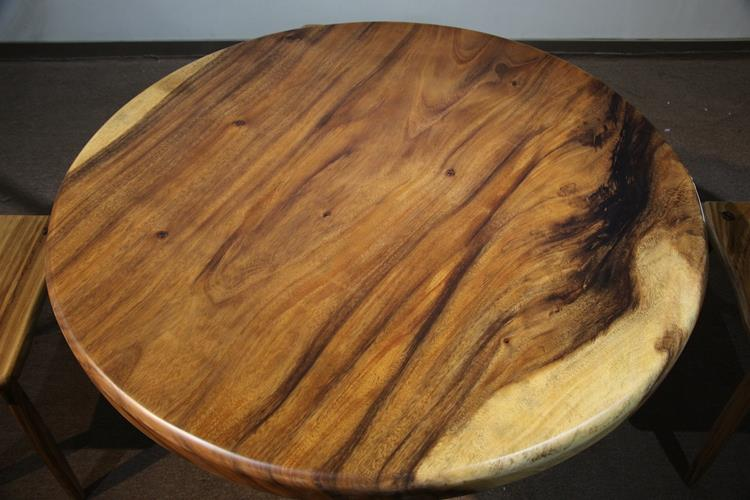 42415754 solid walnut wood round table 110*110*7cm