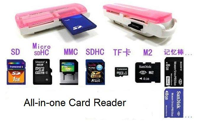 43 In 1 All Multislot USB Memory Card Reader SDMicro SDMMC