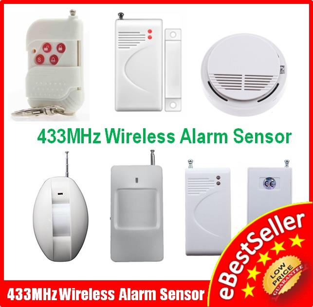 433Mhz Wireless Alarm Magnetic /Curtain PIR / Smoke Detector Sensor