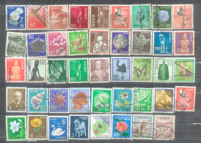 44 Japan Definitive with Many High Value. Lot 1