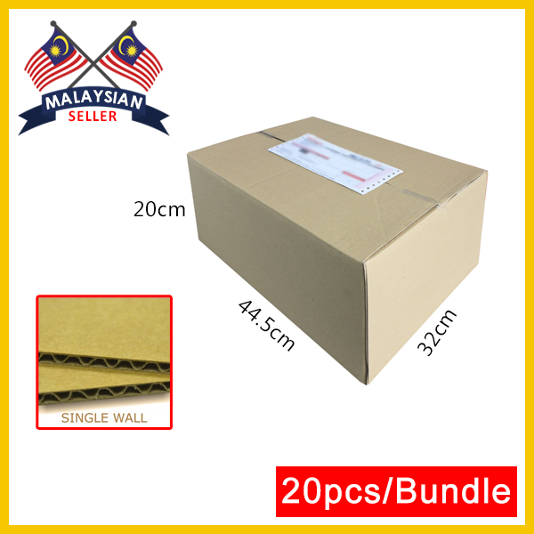 (445mm x 320mm x 200mm, Set of 20) Single Wall Cardboard Carton Box