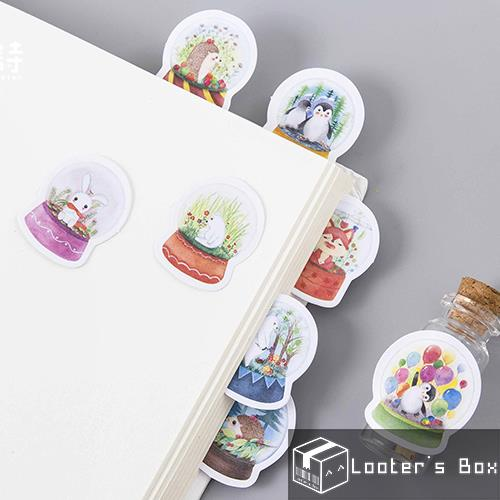 45 Pcs Animal Kingdom in Snow Globe Christmas Decorative Sticker Pack