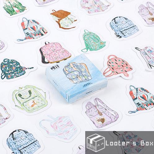 45 Pcs Back to School Backpack Sketches Decorative Sticker Pack (AAC29