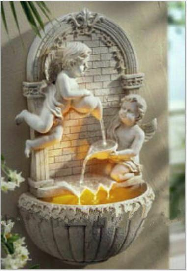 45758388511 angel wall hanging water fountain