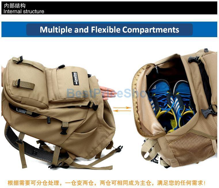 d9536b064e1a 45L LocalLion Water Resistant Army Hiking Camping Outdoor Backpack Bag