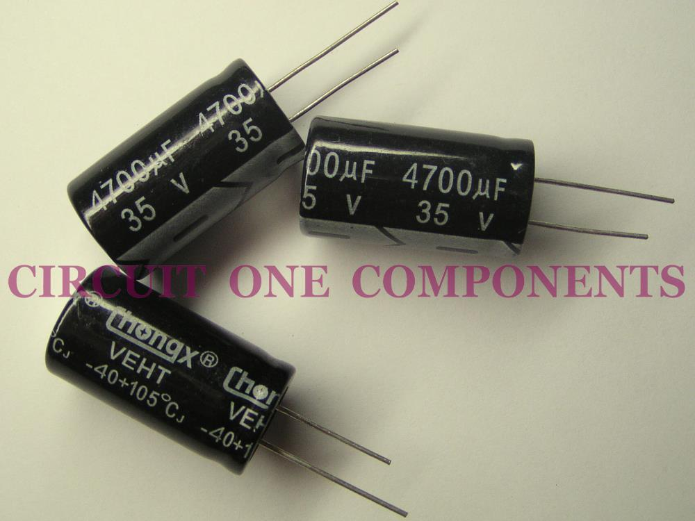 4700uF 35v Electrolytic Capacitor - Each