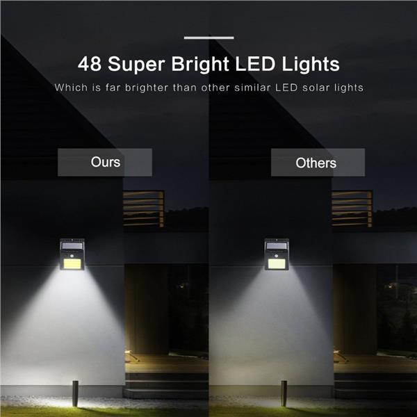 48 Cob Led Solar Motion Sensor Wall, Solar Outdoor Lamp Malaysia