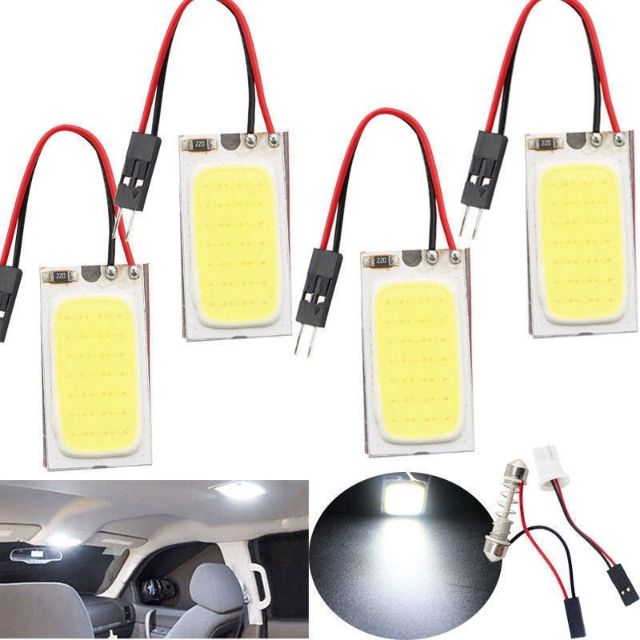 48 SMD COB LED T10 4W 12V Car Light Car Interior Panel Lights Dome Interior La