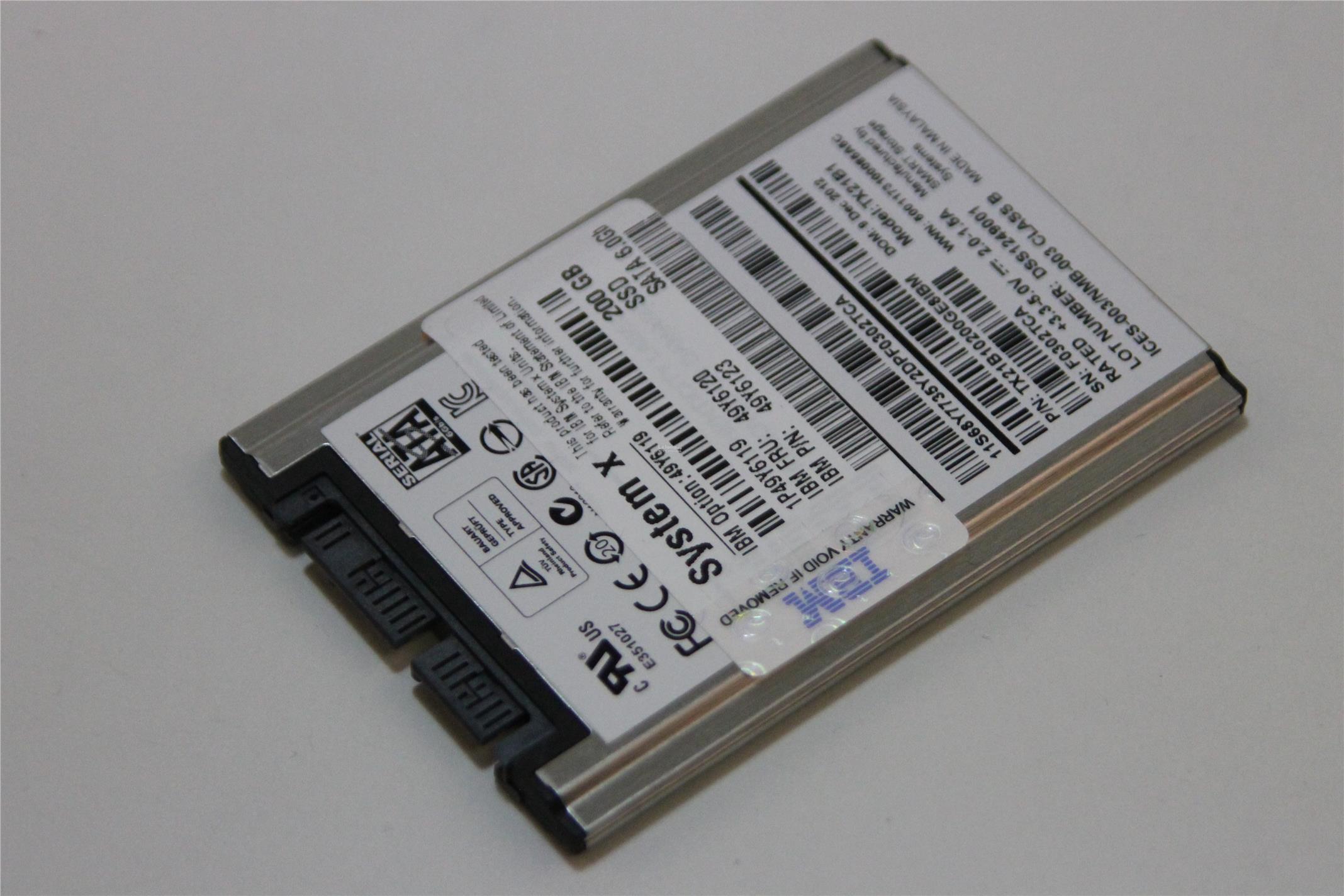 49Y6120 IBM 200Gb 6G SSD 1 8inch Harddrive