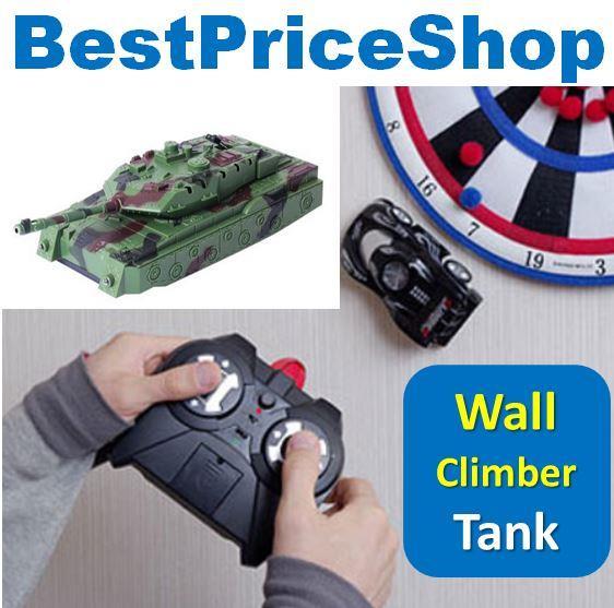4CH Remote Control RC Wall Climbing Climber Stunt War Tank Toy