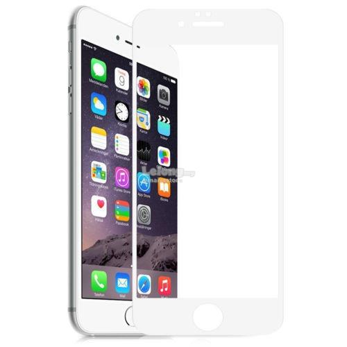 4D Full Covered Tempered Glass Protector for iPhone 7 (White)