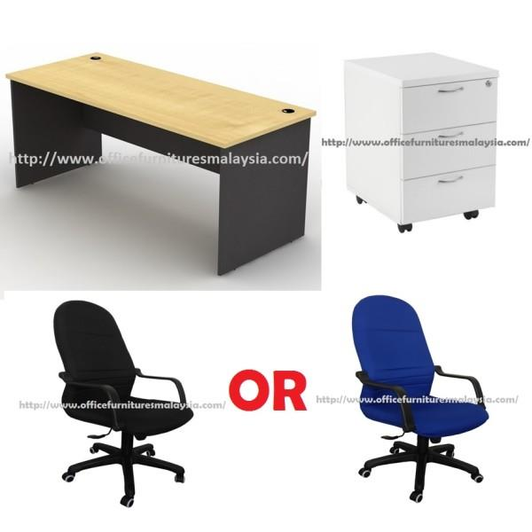 Ft Maple Office Table With Mobile P End PM - 4 ft office table