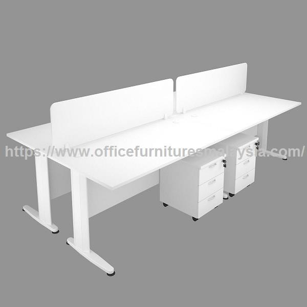 4ft Modern Cubicle Workstation 4 Table OFTFT012 | Office Furnitures KL