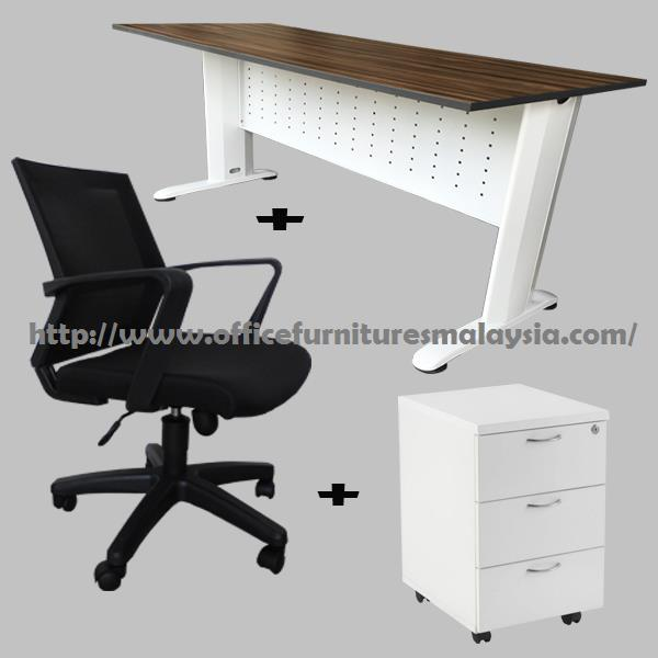 Ft Office Table Cappuccino Set OFTF End AM - 4 ft office table