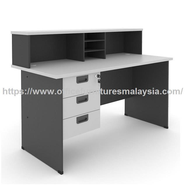 4ft Simple Office Front Desk OFRCG1200G | office reception counter KL