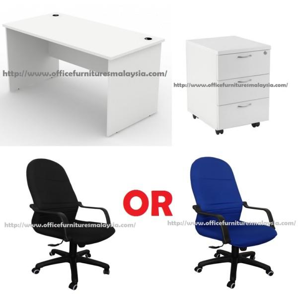 Ft White Office Table With Mobile P End PM - 4 ft office table