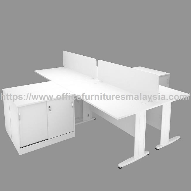 4ft Workstation 4 Table With Side Cabinet OFTFT014 | Office Furniture