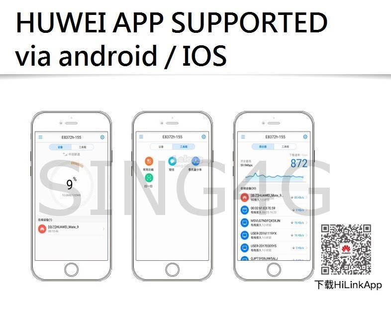 4G USB + WIFI Modem Huawei E8372 @ E392 E5336 R212 E586 E5776 B593
