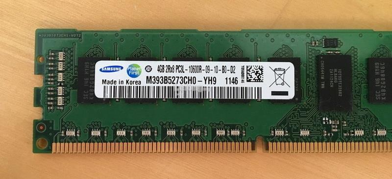 4GB PC3L-10600R 2Rx8  DDR3 1333Mhz ECC RAM SERVER RAM