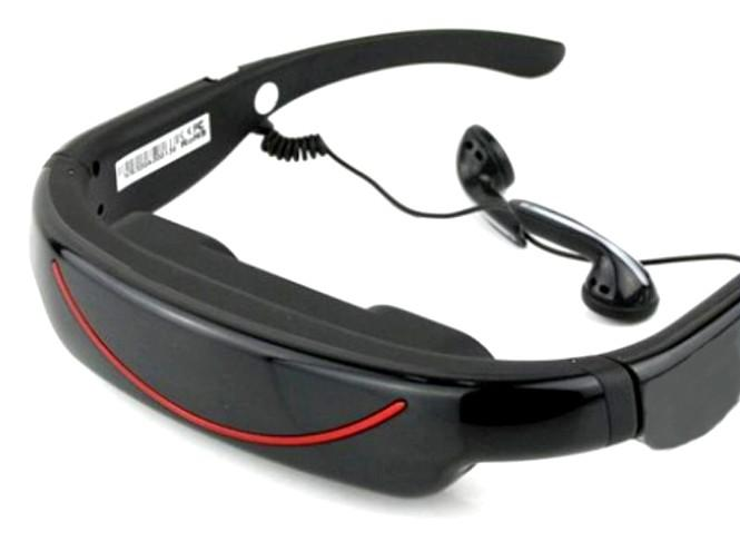4GB Portable Video Glasses with AV Function (WSG-06B).