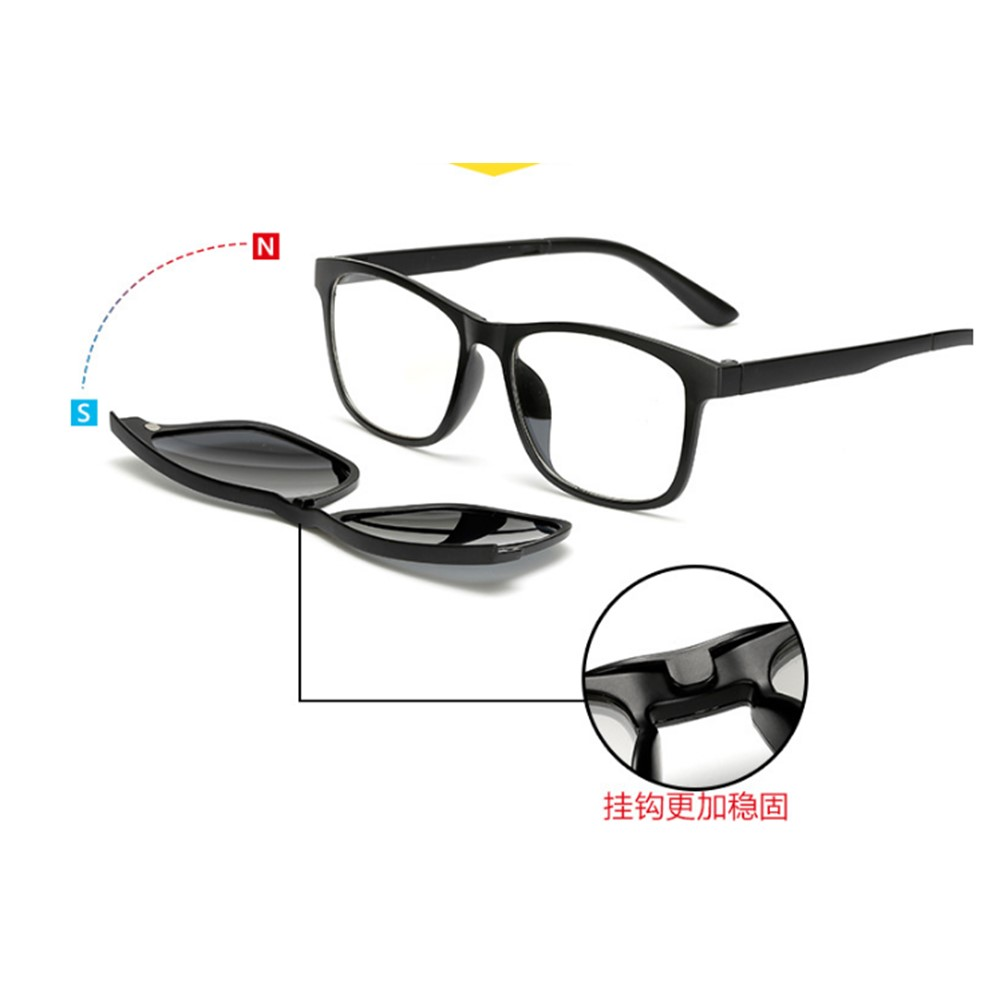 4GL 2201F Anti Blue Light Computer Glasses Polarized Sunglasses Clip O