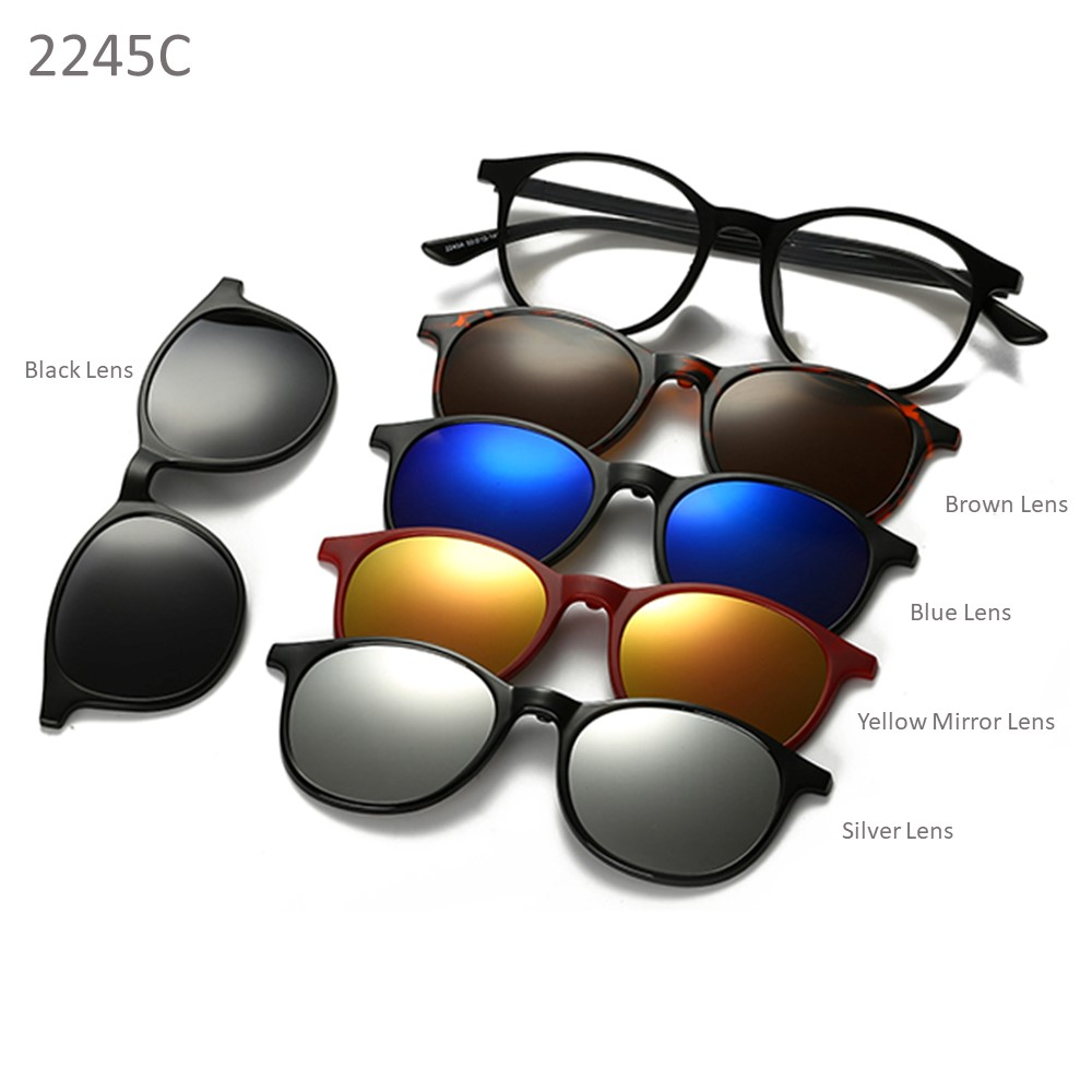 03f319ac62 4GL 2245 Magnetic Clip On 6 in 1 Polarized UV Protection Sunglasses