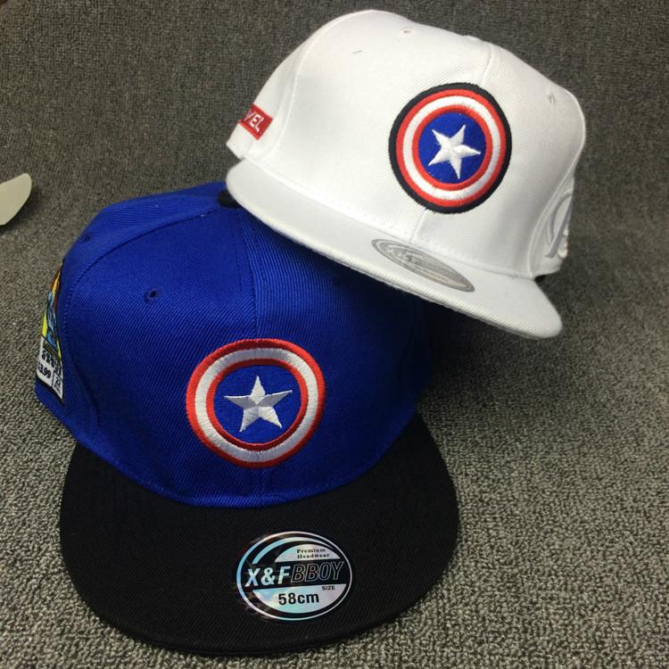 4GL Captain America Snapback Cap Baseball Hat Marvel