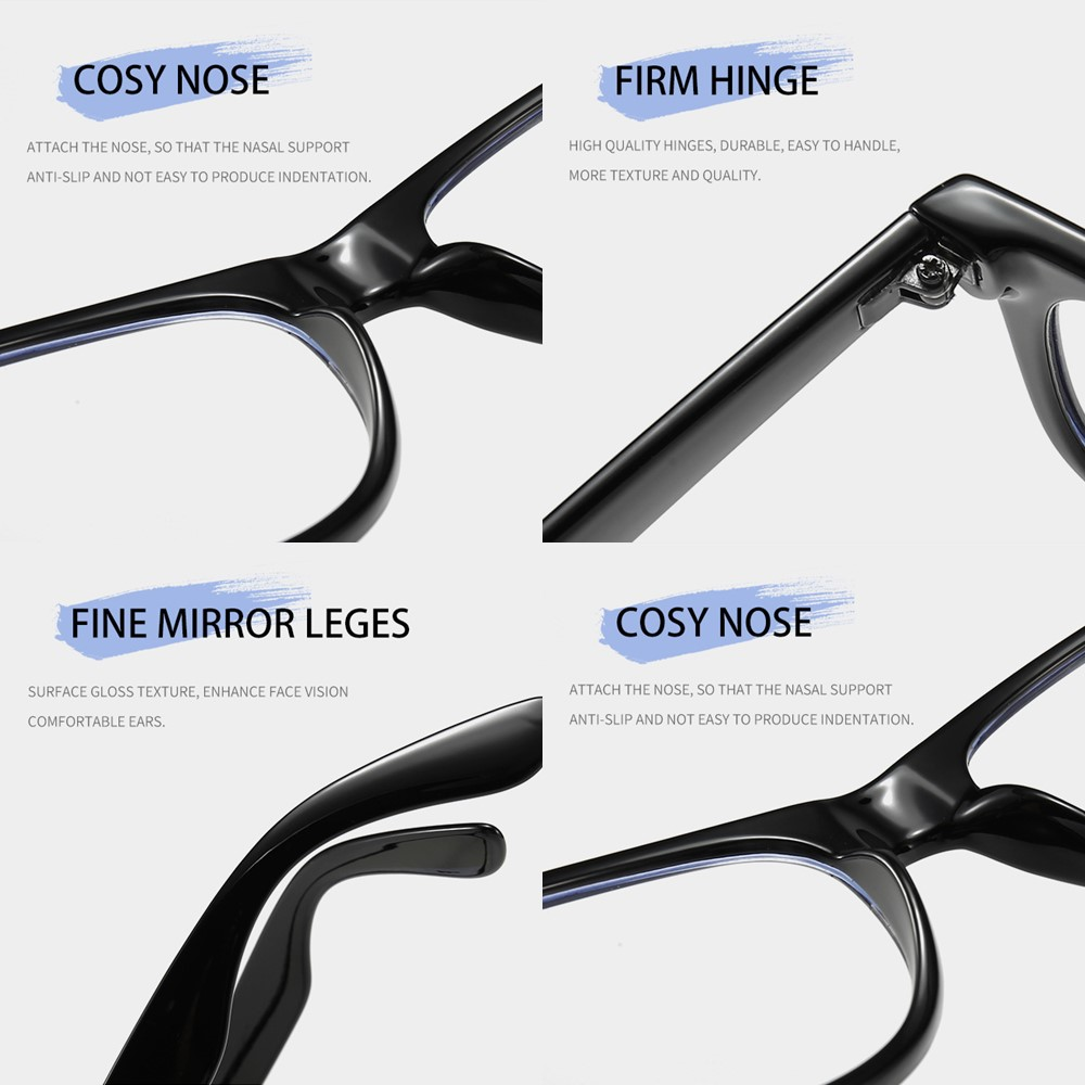 4GL Design E Glasses Anti Blue Light Eye Strain Computer Eyeglasses
