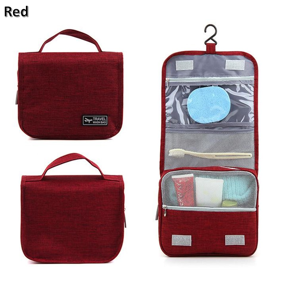 4GL Foldable Toiletries Travel Wash Bag With Hook