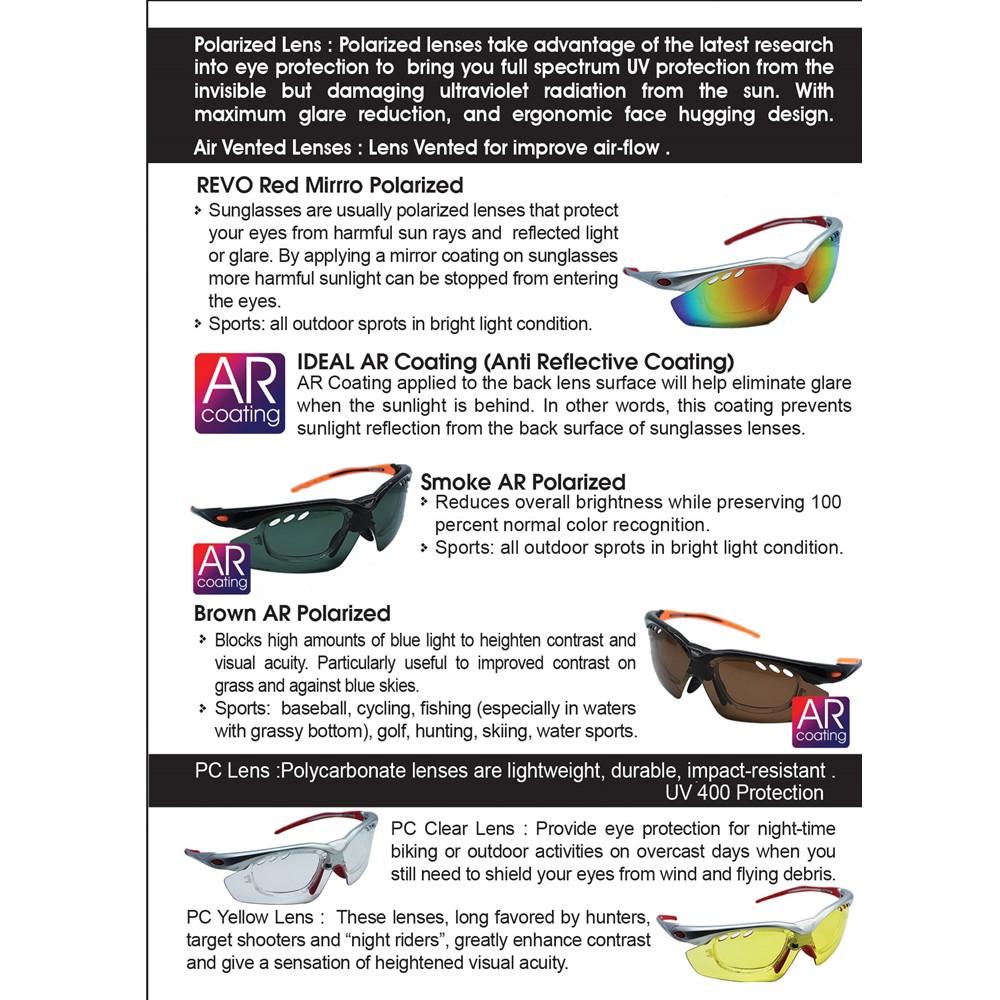 63c0ab210a2e 4GL Ideal Activ S 5-in-1 Sport Sunglasses (TR90 Frame 3 Polarized