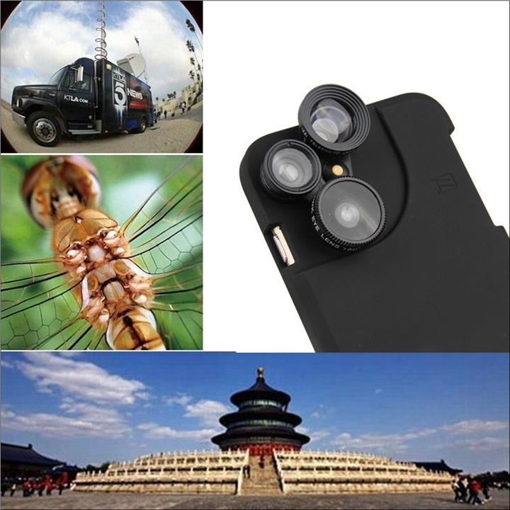 4in1 Camera Lens Case iPhone 6 Plus Fisheye 2x Zoom Wide Angle Marco